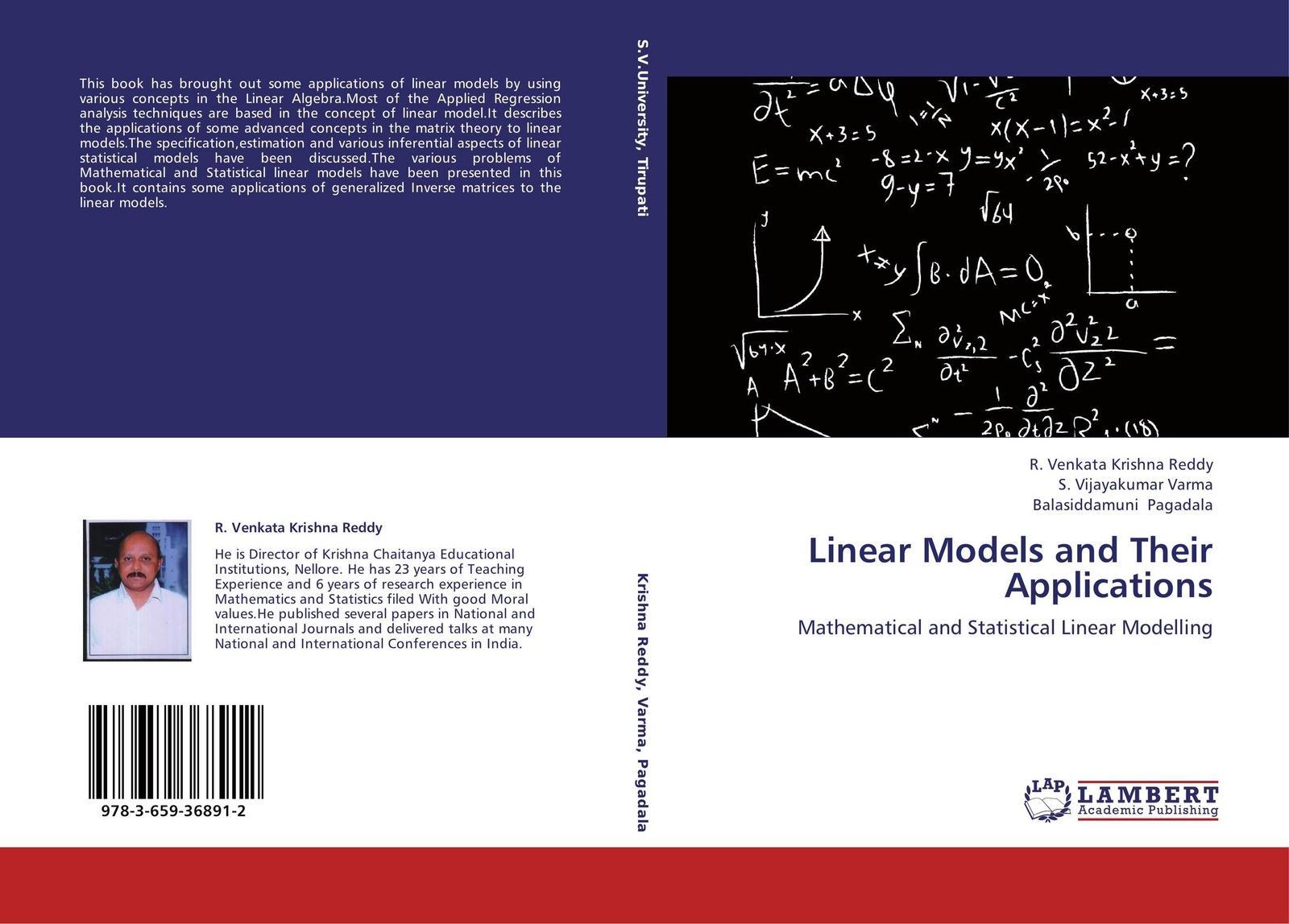 R. Venkata Krishna Reddy,S. Vijayakumar Varma and Balasiddamuni Pagadala Linear Models and Their Applications