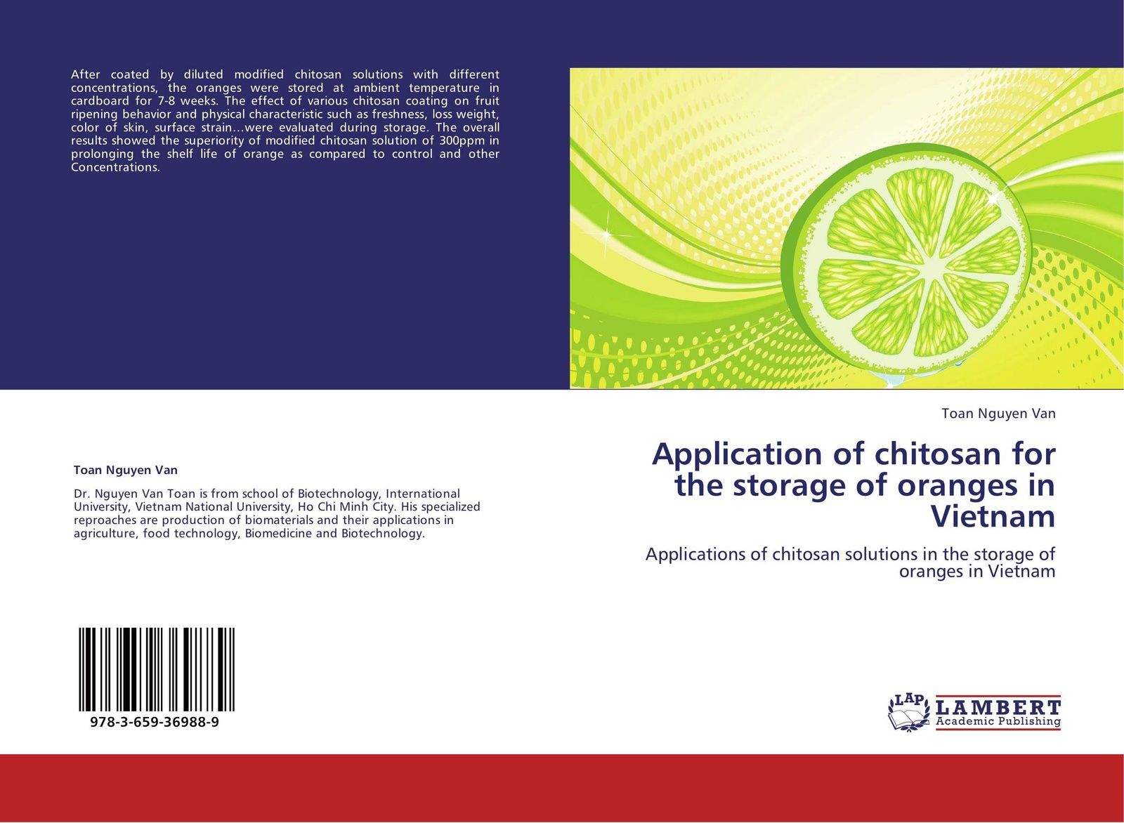Toan Nguyen Van Application of chitosan for the storage of oranges in Vietnam