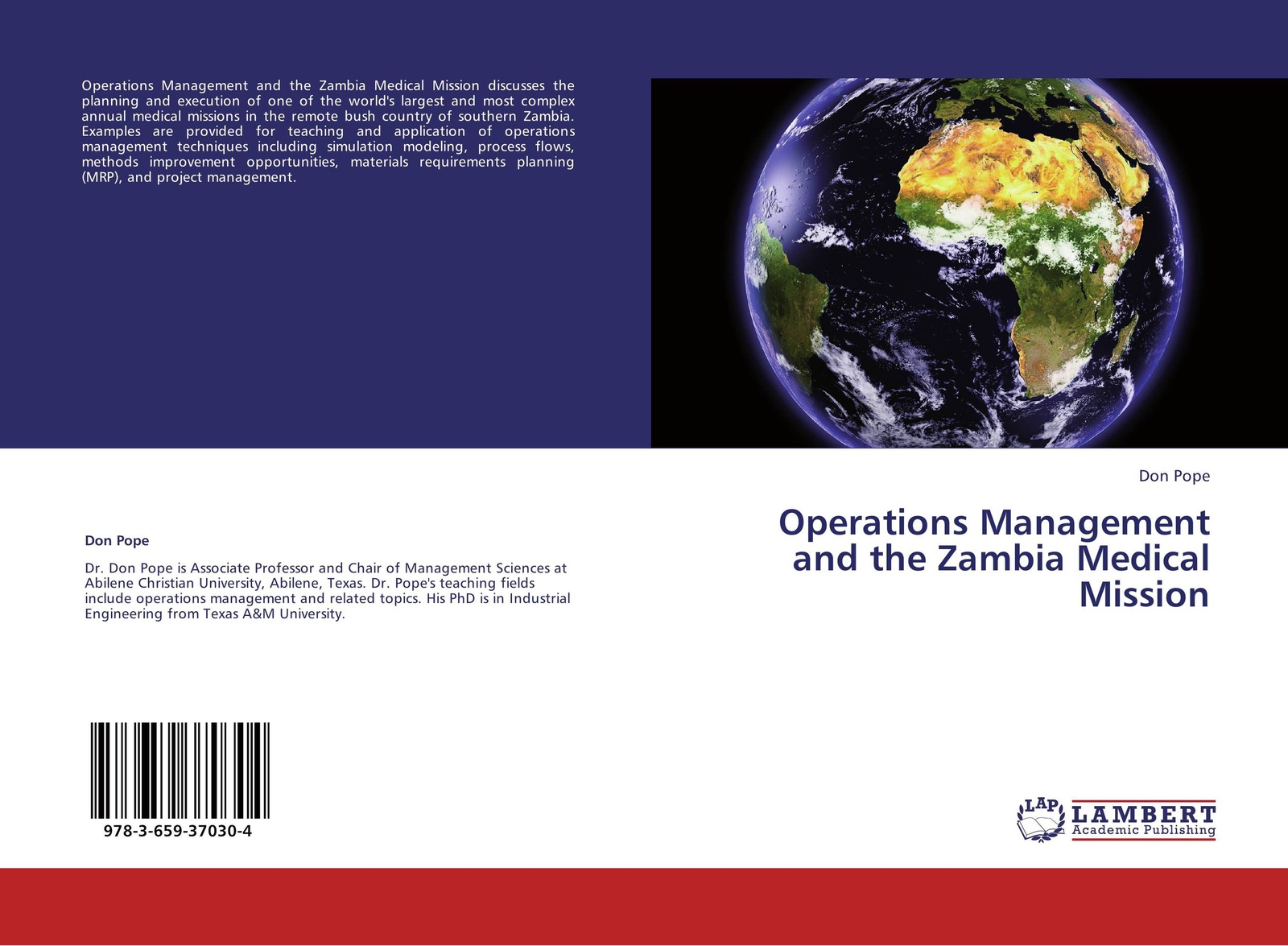 Don Pope Operations Management and the Zambia Medical Mission kirt butler c multinational finance evaluating opportunities costs and risks of operations