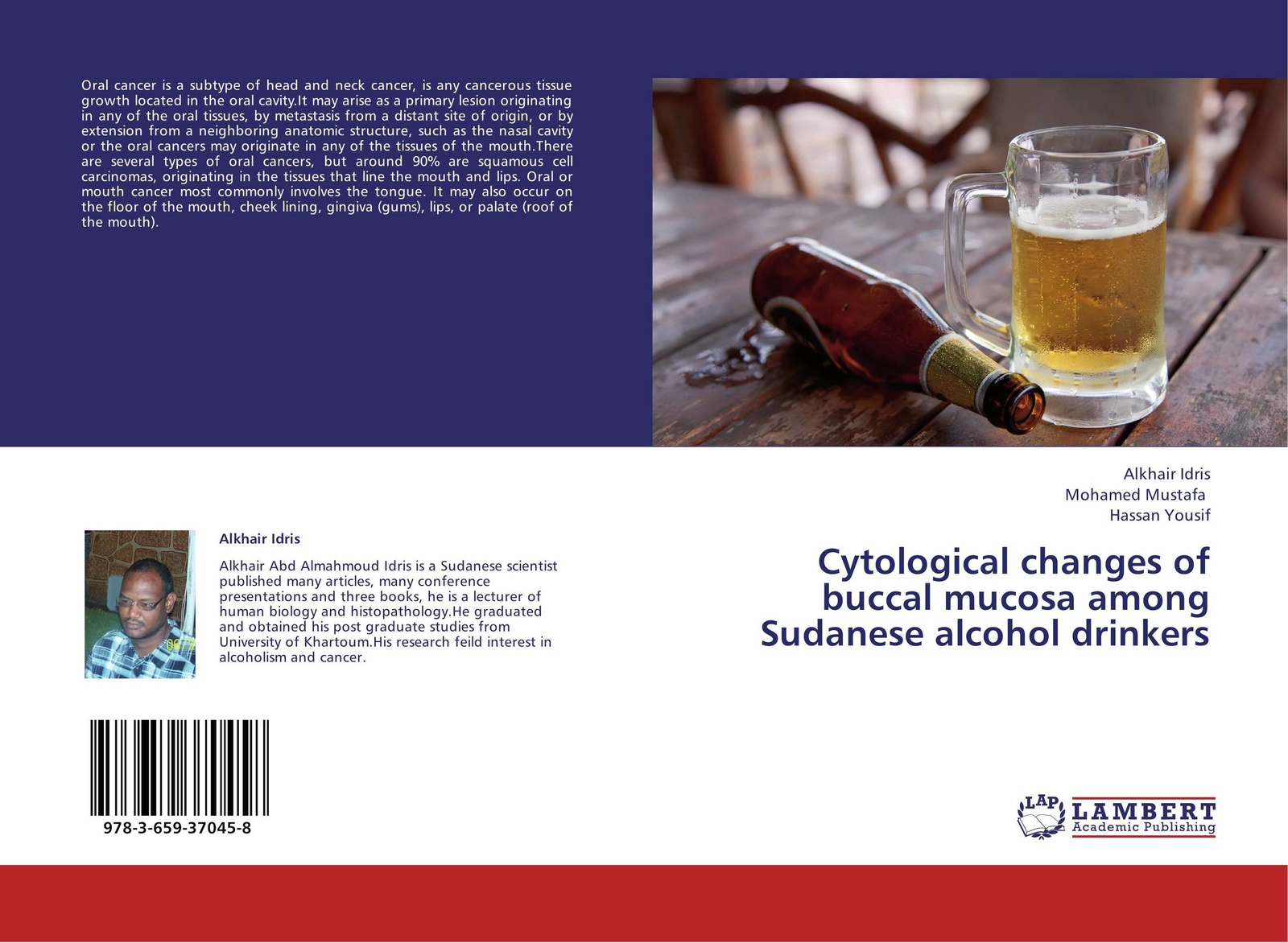 Alkhair Idris,Mohamed Mustafa and Hassan Yousif Cytological changes of buccal mucosa among Sudanese alcohol drinkers kalyana chakravarthy pentapati shashidhar acharya and meghashyam bhat oral cancer in india