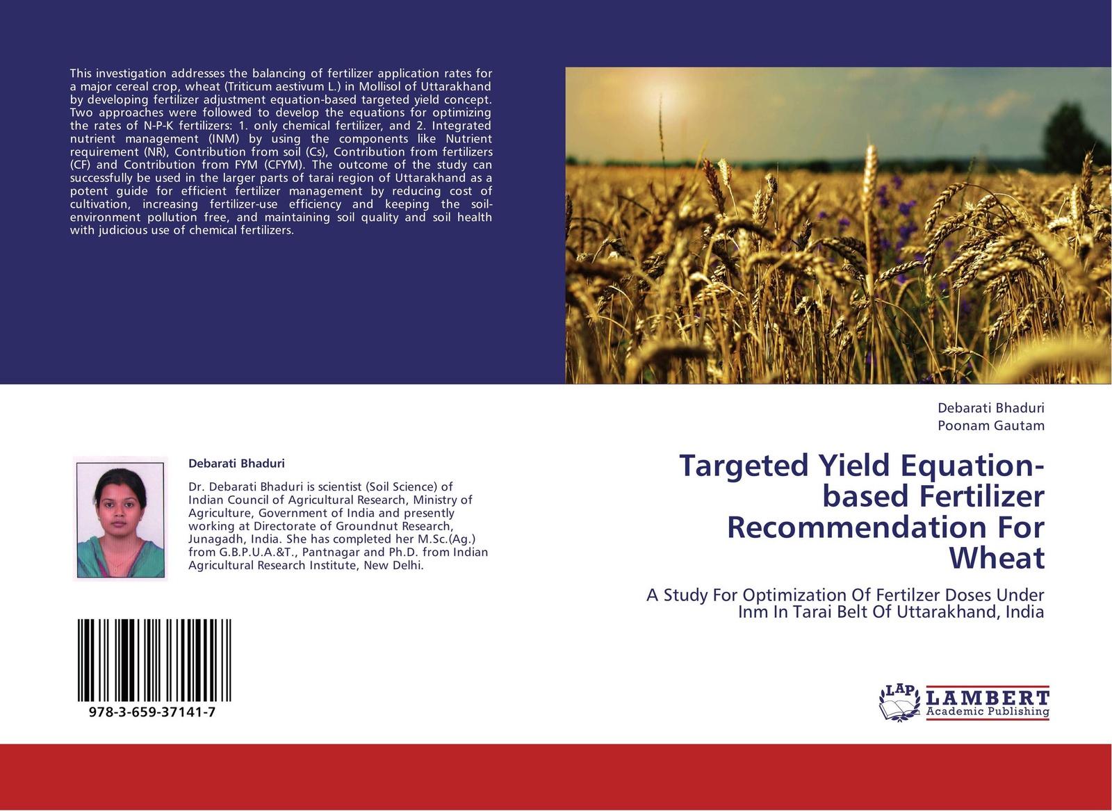 Debarati Bhaduri and Poonam Gautam Targeted Yield Equation-based Fertilizer Recommendation For Wheat pragnesh dave and jaspal b sukhdiya preparation of chitosan nanoparticals coated k fertilizers