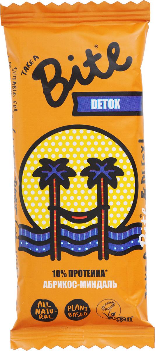 Take A Bite Абрикос-Миндаль Detox батончик фруктово-ореховый, 45 г батончик take a bite фруктово ореховый арахис банан спорт 30 г