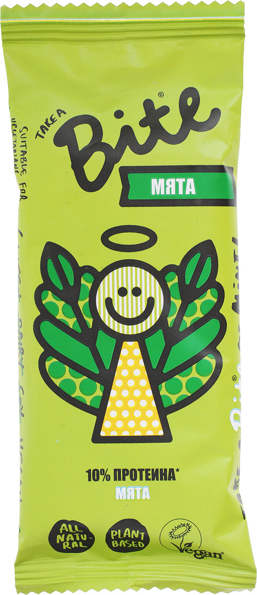 Take A Bite Мята батончик фруктово-ореховый, 45 г батончик take a bite фруктово ореховый арахис банан спорт 30 г