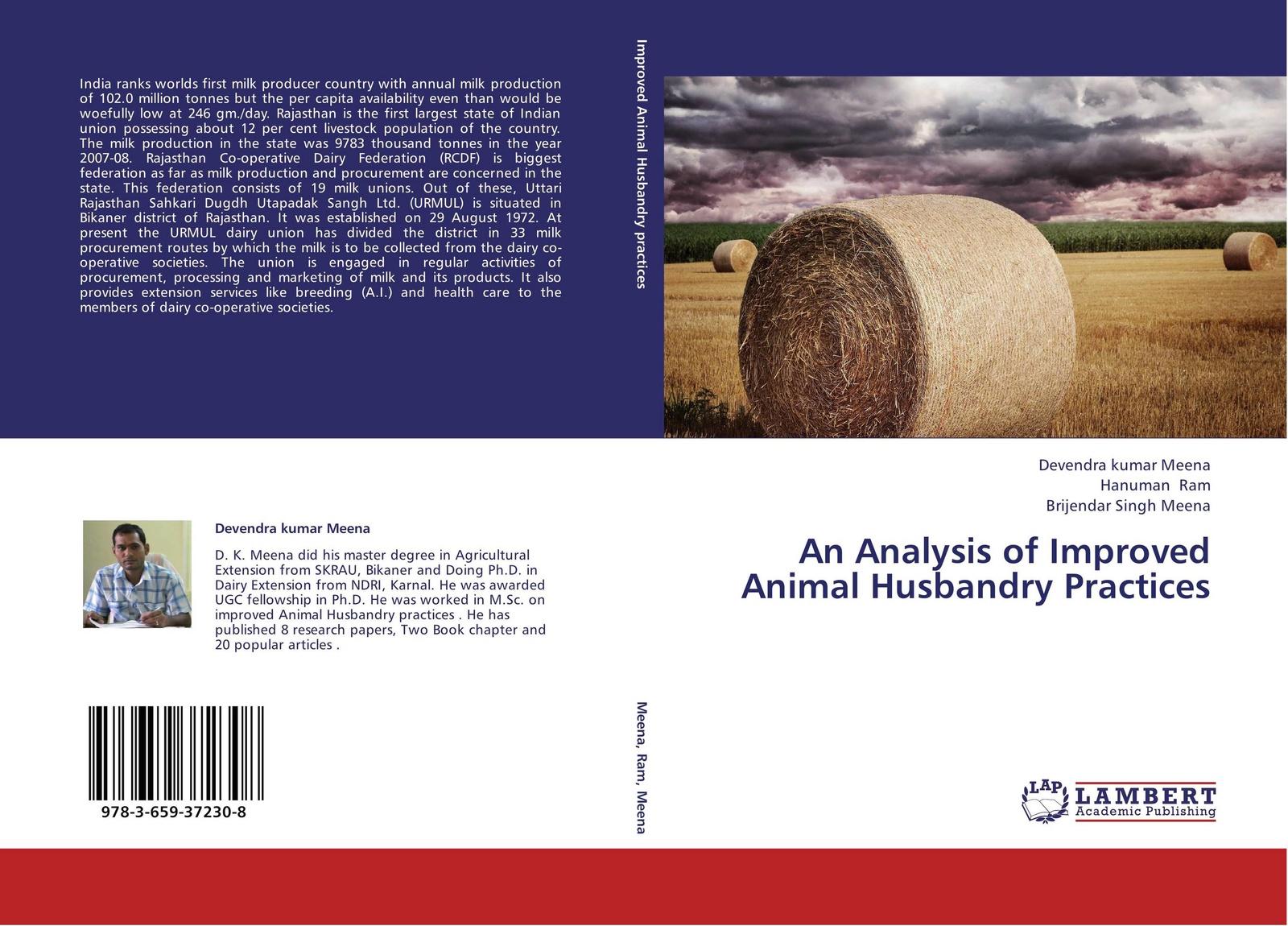 Devendra kumar Meena,Hanuman Ram and Brijendar Singh Meena An Analysis of Improved Animal Husbandry Practices цена в Москве и Питере