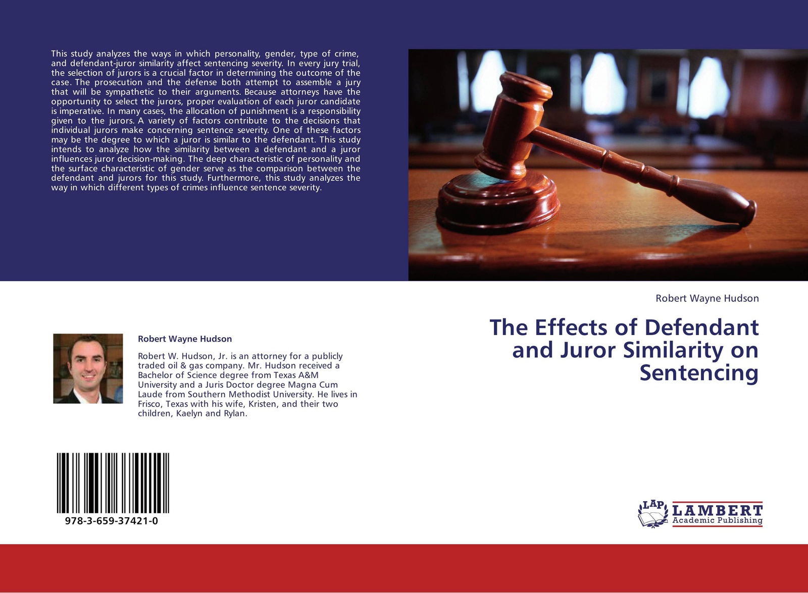 Robert Wayne Hudson The Effects of Defendant and Juror Similarity on Sentencing стоимость