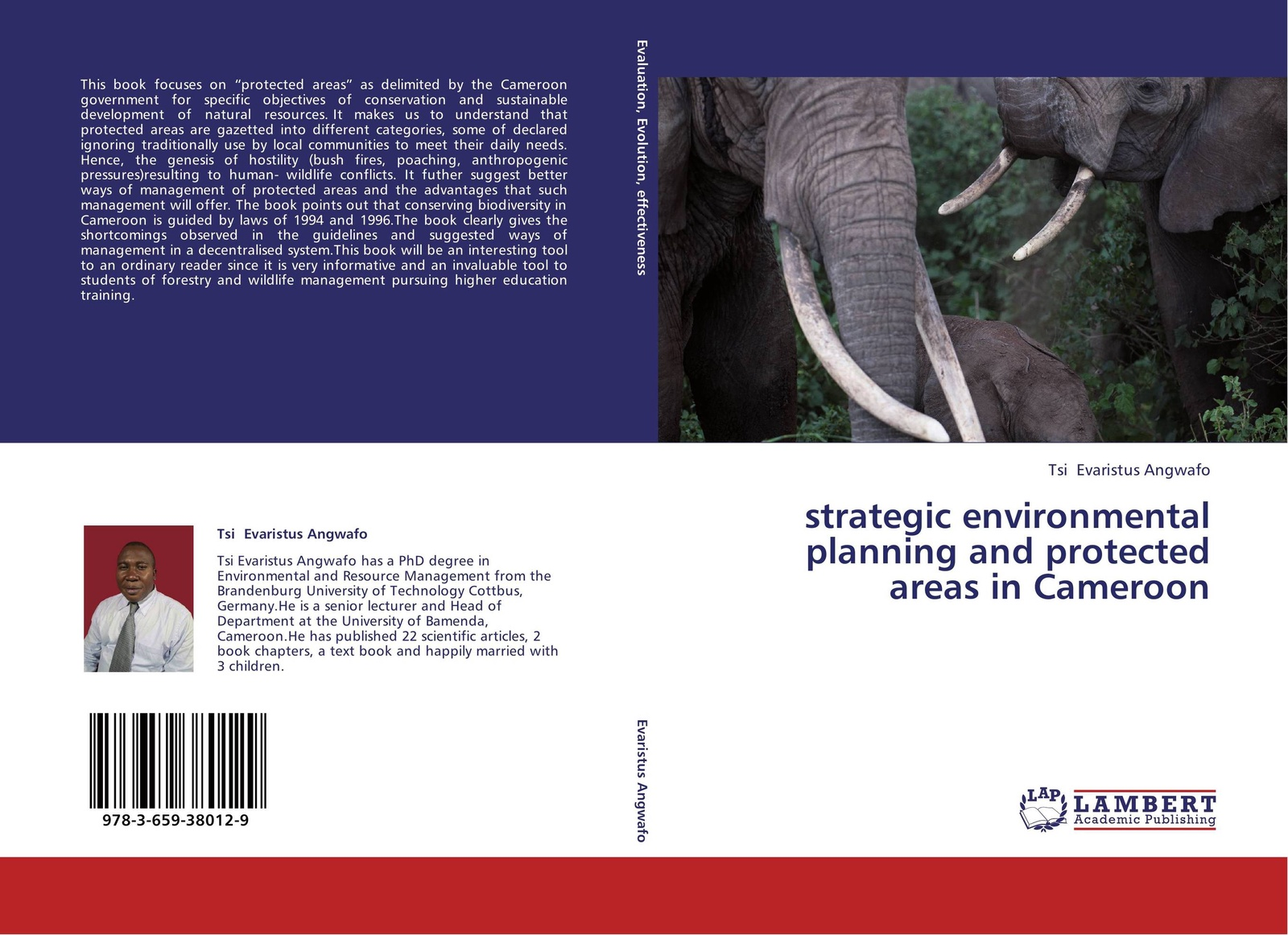 Tsi Evaristus Angwafo strategic environmental planning and protected areas in Cameroon