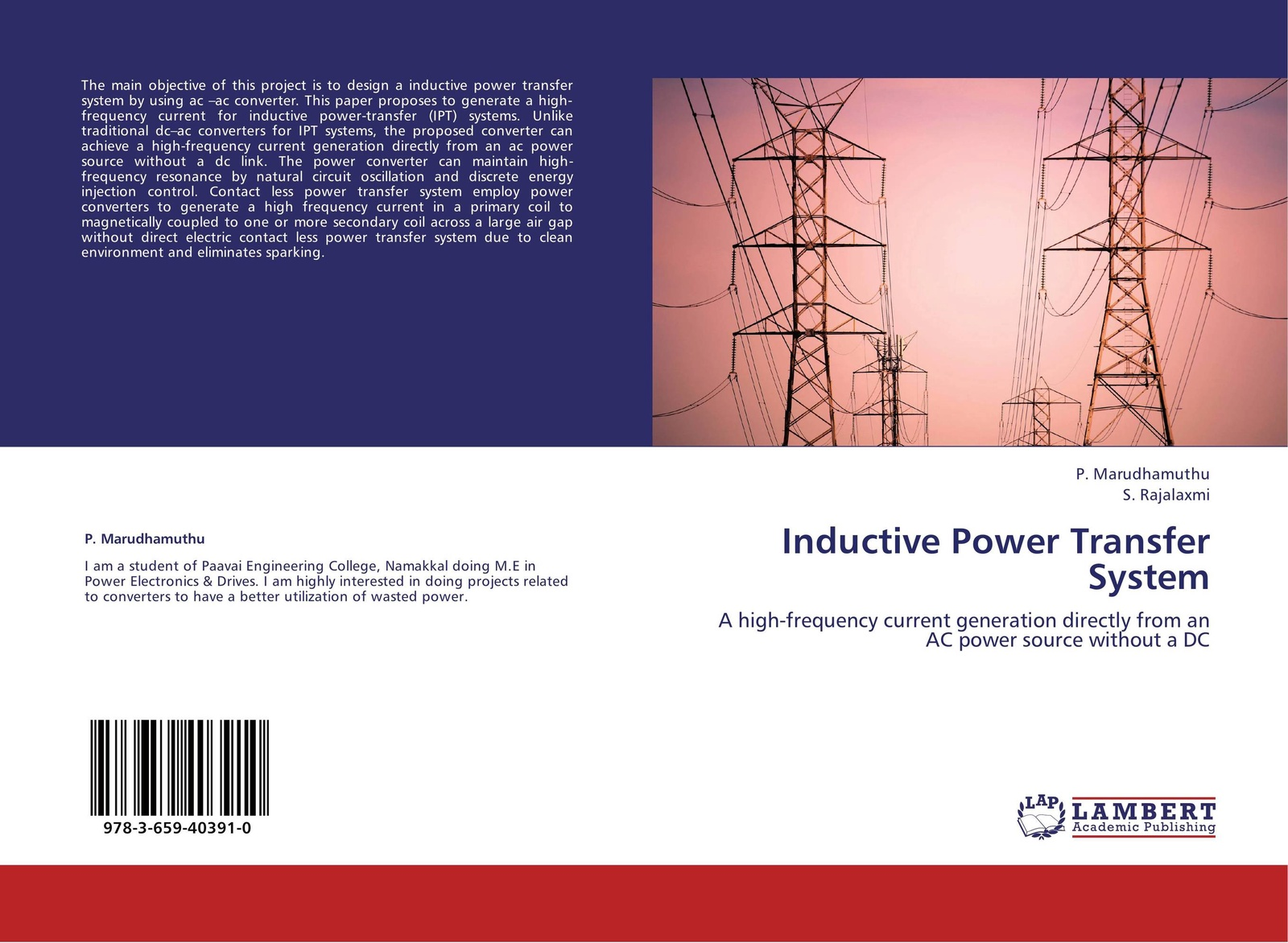P. Marudhamuthu and S. Rajalaxmi Inductive Power Transfer System цена
