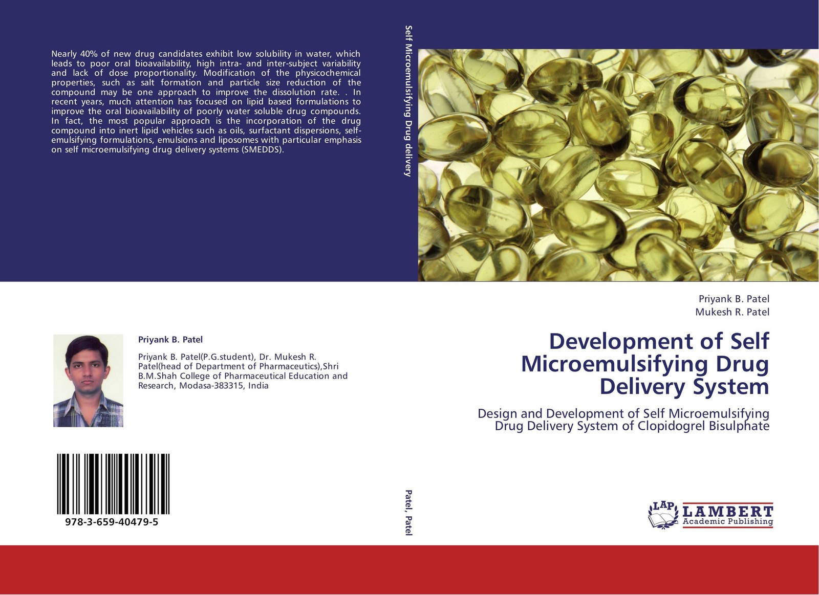 Priyank B. Patel and Mukesh R. Patel Development of Self Microemulsifying Drug Delivery System mike lee s oral bioavailability assessment basics and strategies for drug discovery and development