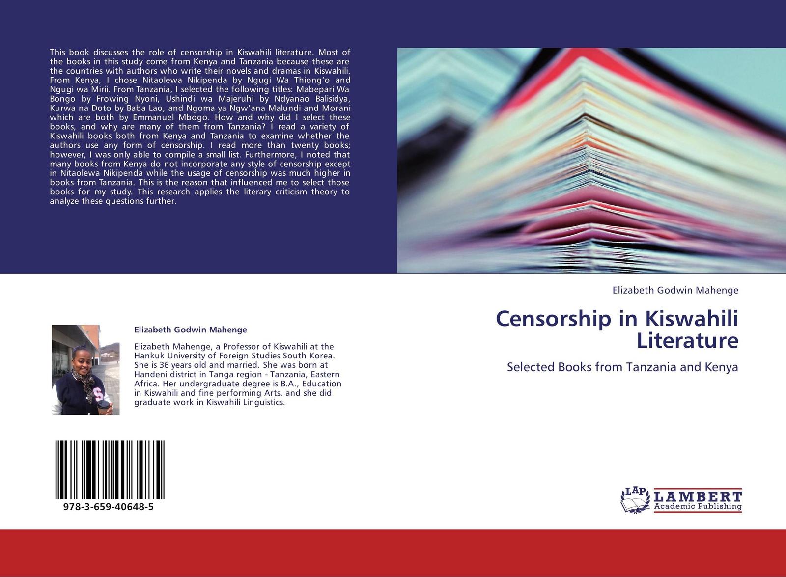 Elizabeth Godwin Mahenge Censorship in Kiswahili Literature union day tanzania gifts