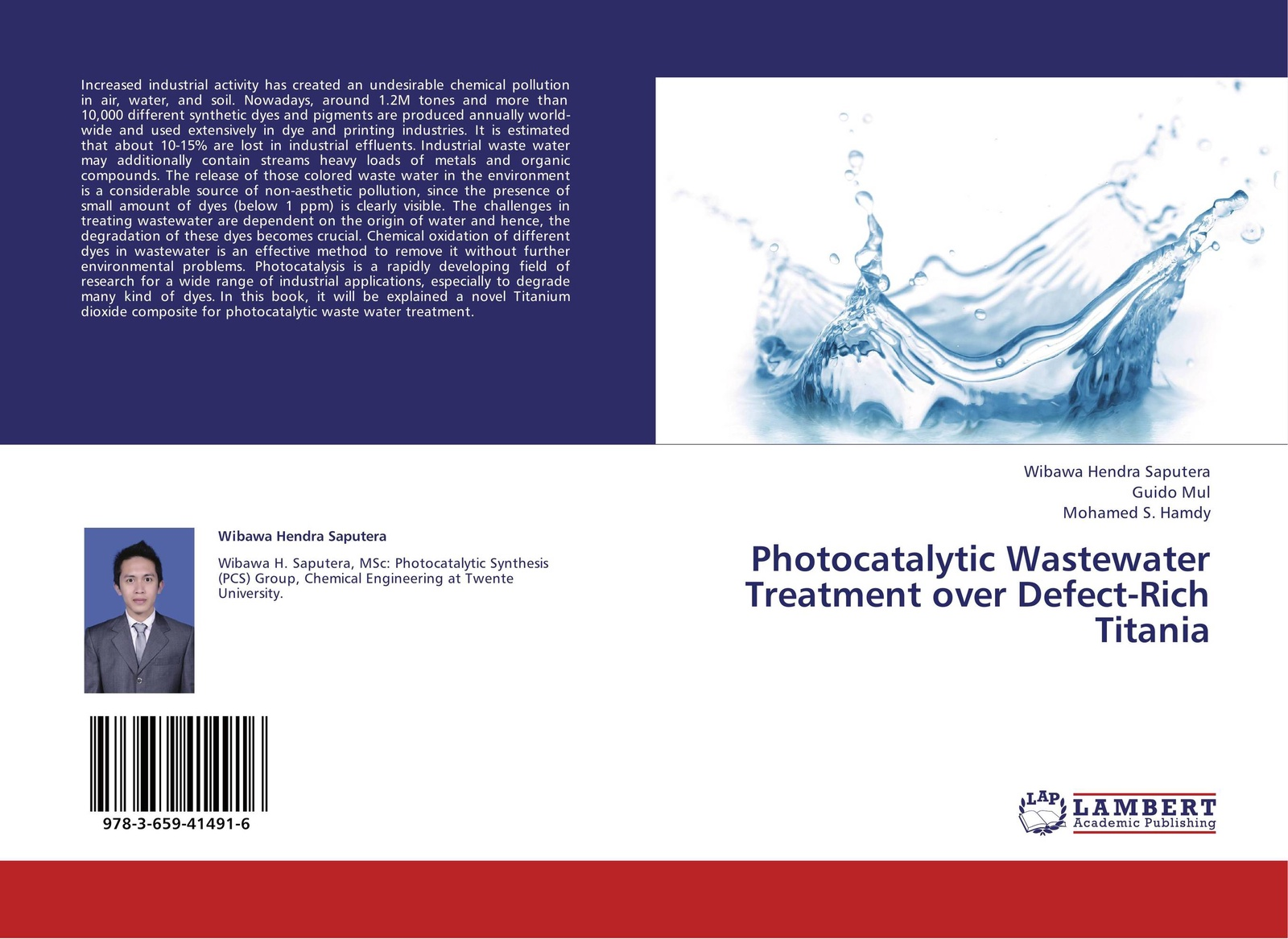 Wibawa Hendra Saputera,Guido Mul and Mohamed S. Hamdy Photocatalytic Wastewater Treatment over Defect-Rich Titania kevin henke arsenic environmental chemistry health threats and waste treatment