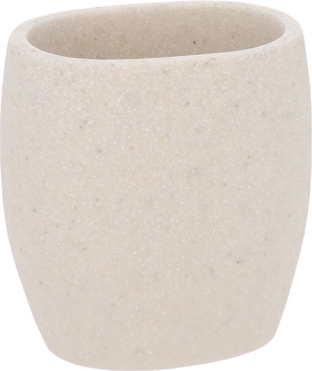 Стакан для ванной комнаты Wenko Puro, цвет: светло-бежевый стакан для ванной комнаты ridder stone цвет бежевый