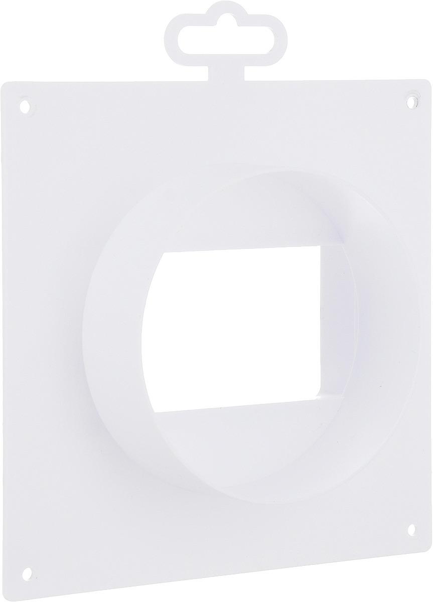 Соединительно-монтажный элемент ERA, 511SK10NP, белый, с накладной пластиной соединитель для круглых каналов с клапаном и с пластиной 3531 150мм р