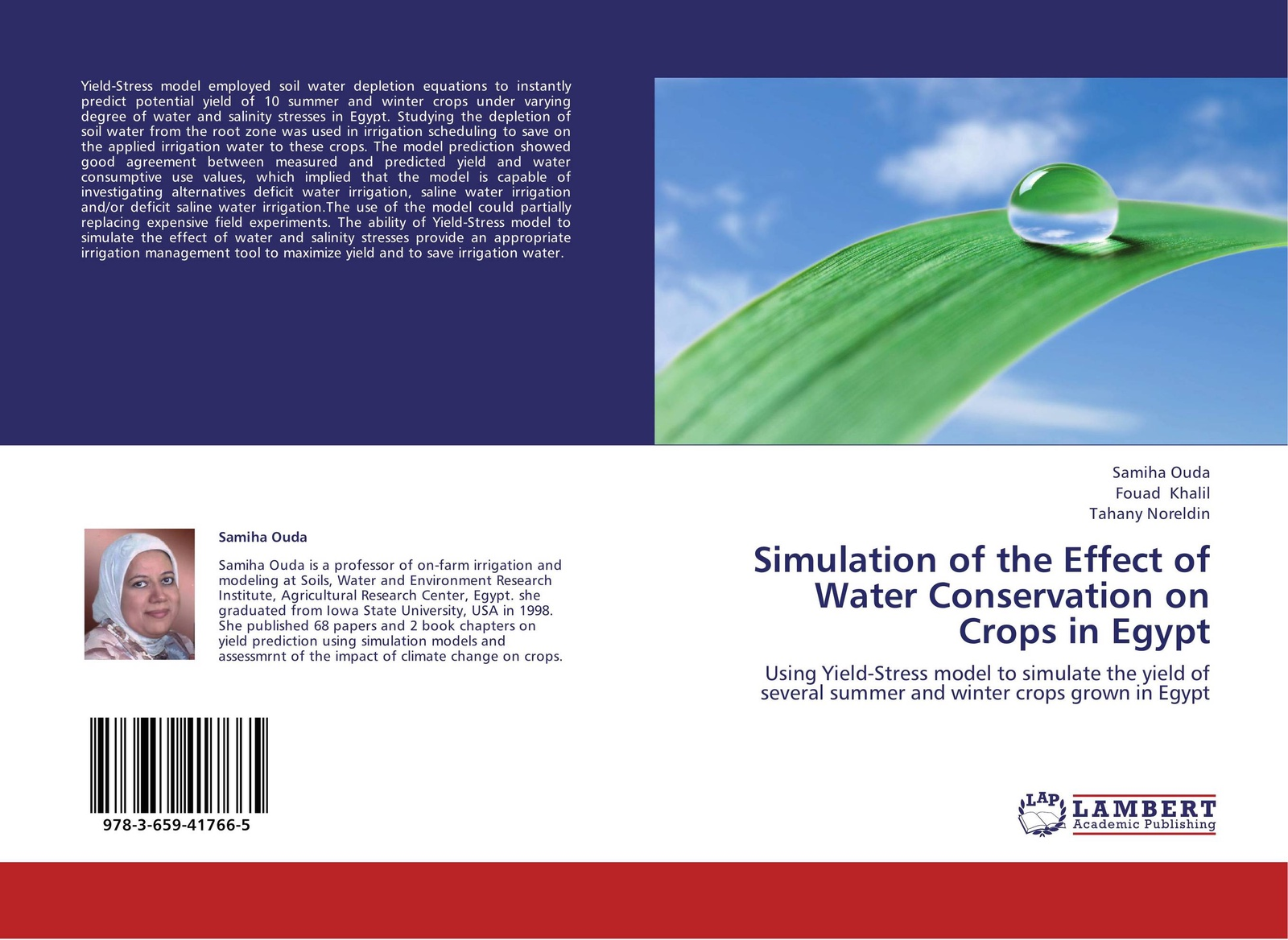 Samiha Ouda,Fouad Khalil and Tahany Noreldin Simulation of the Effect of Water Conservation on Crops in Egypt simulation of the effect of water conservation on crops in egypt