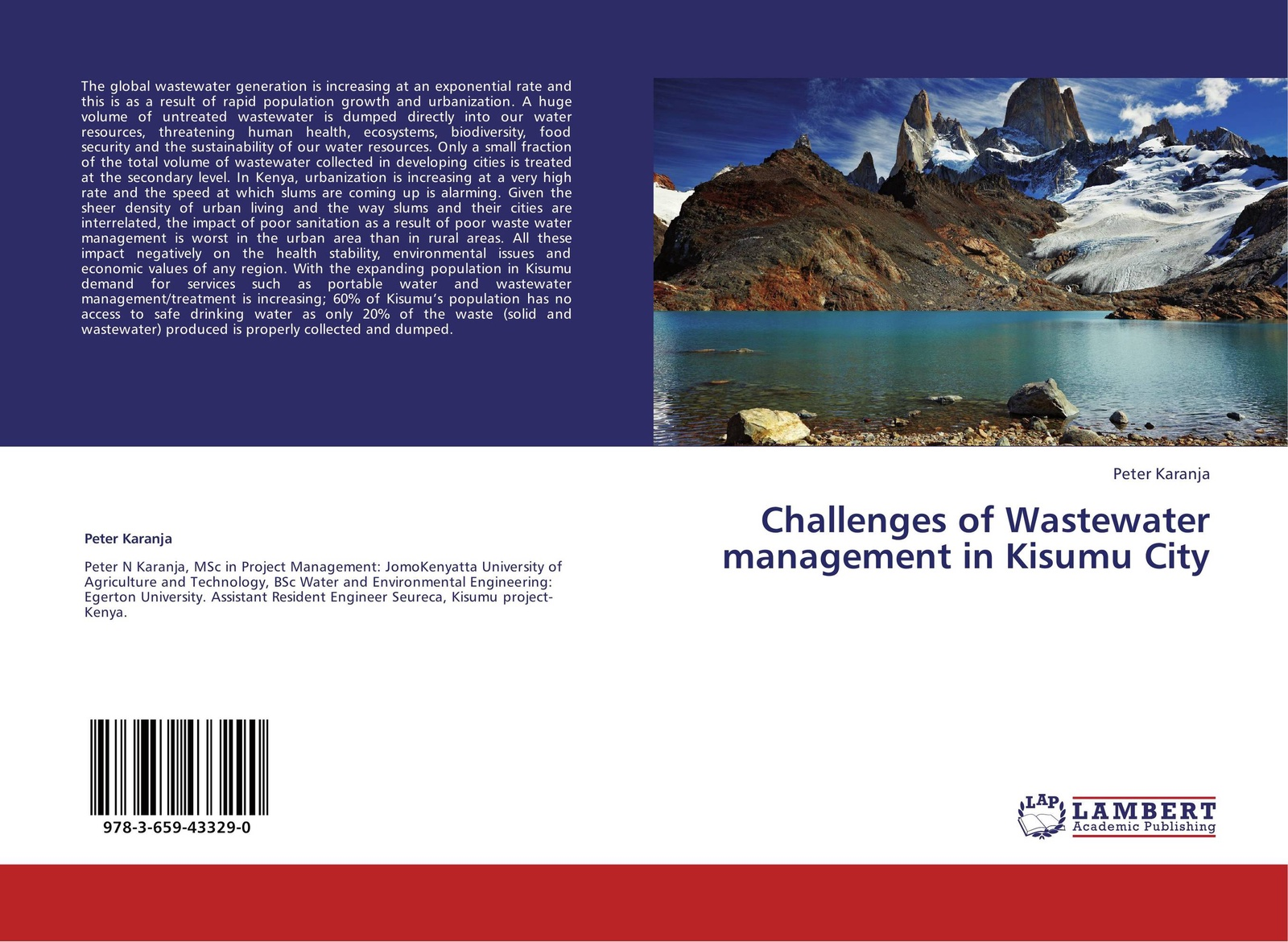 Peter Karanja Challenges of Wastewater management in Kisumu City kevin henke arsenic environmental chemistry health threats and waste treatment