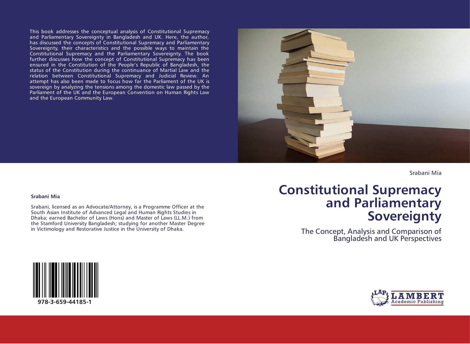 Srabani Mia Constitutional Supremacy and Parliamentary Sovereignty sovereignty in transition