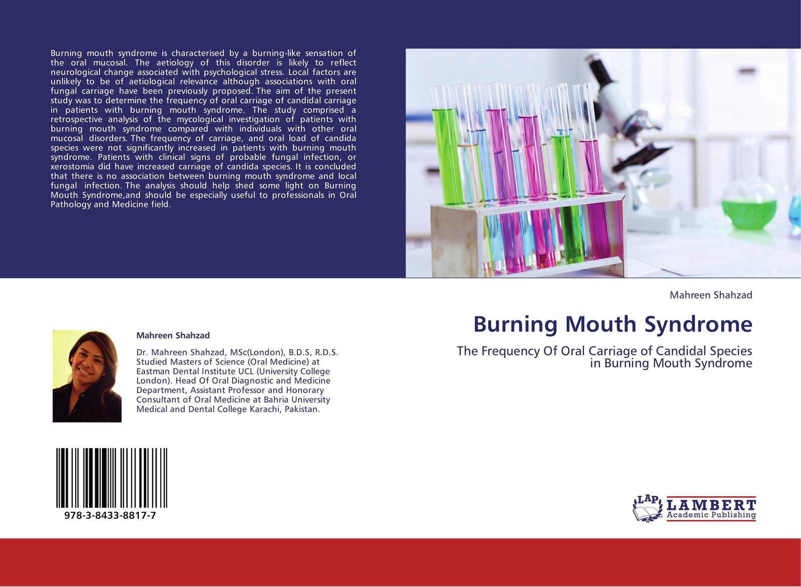 Mahreen Shahzad Burning Mouth Syndrome peter lockhart b oral medicine and medically complex patients
