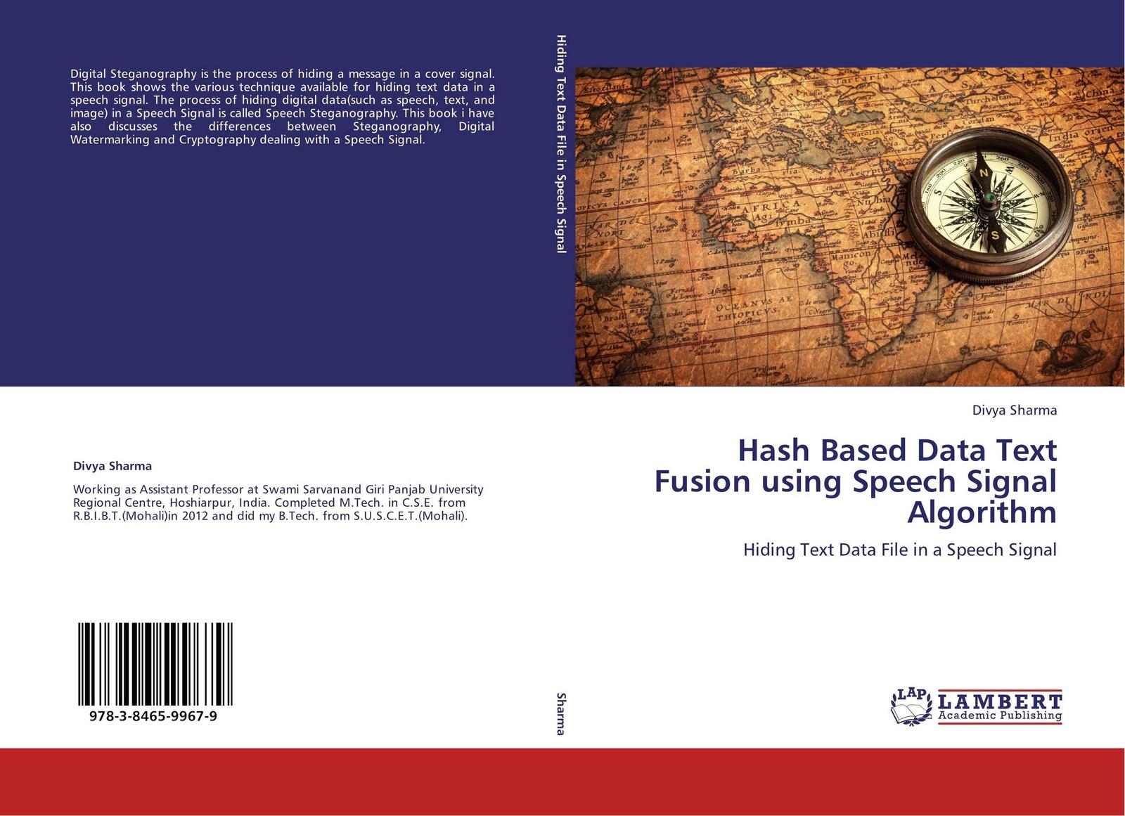 Divya Sharma Hash Based Data Text Fusion using Speech Signal Algorithm