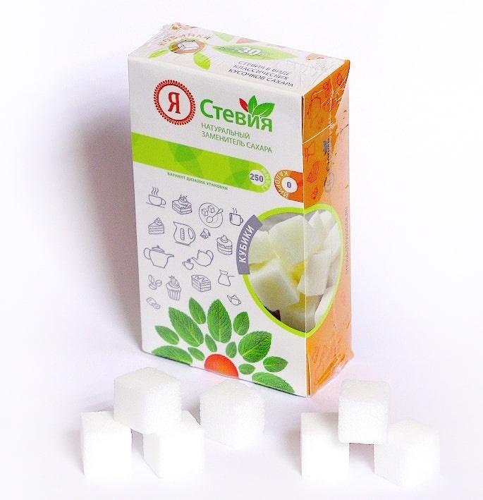 Сахарозаменитель Я Стевия натуральный, стевия кубики, 250 г bio tradition стевия натуральный заменитель сахара 30 г