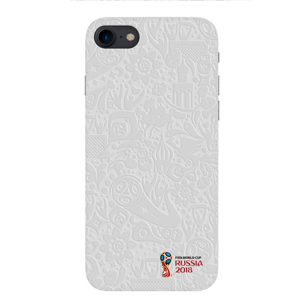 Чехол для Apple iPhone 7/8, FIFA Official Pattern white, Deppa цена и фото