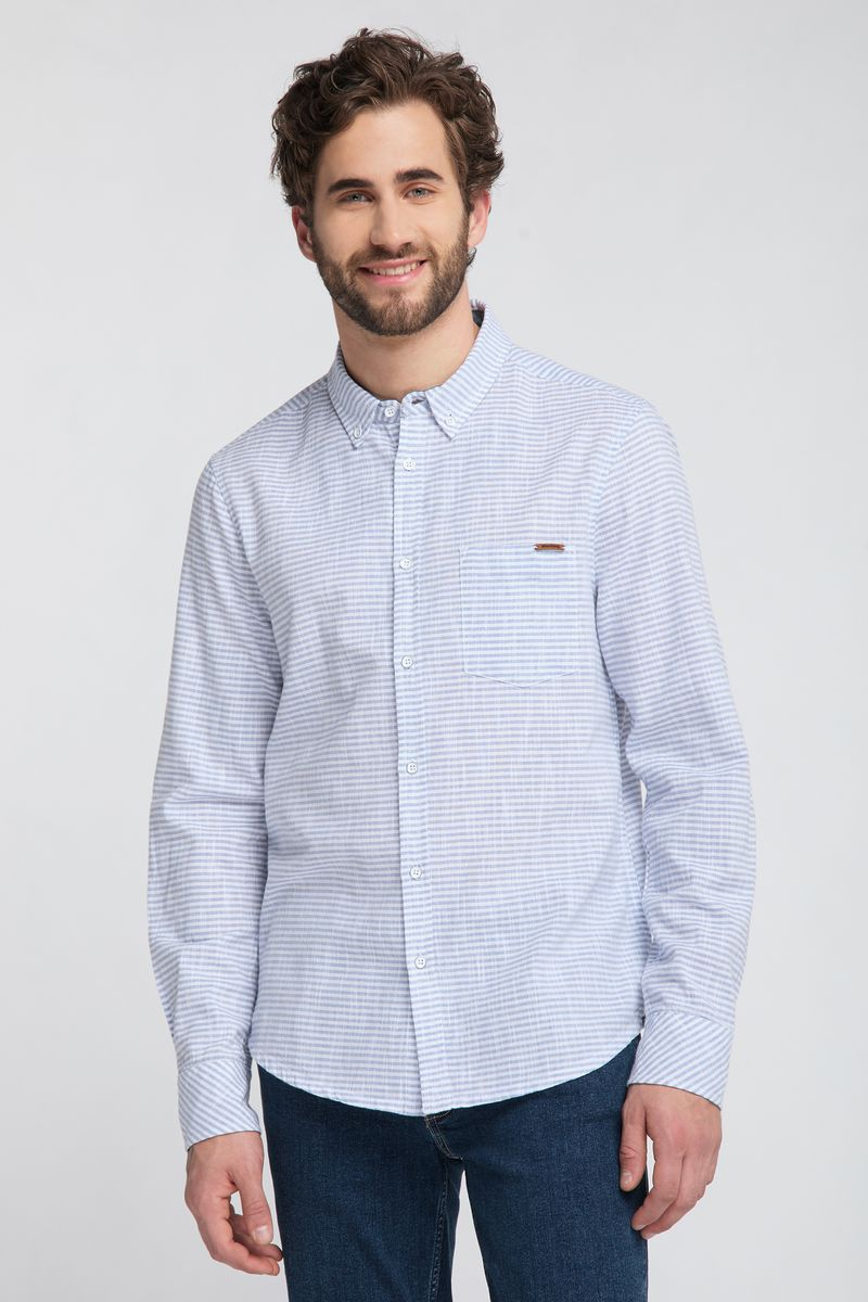цена Рубашка MUSTANG Casper BDC Stripe онлайн в 2017 году