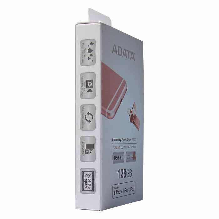 USB Флеш-накопитель ADATA AAI920-128G-CRG 128GB Lightning + USB 3.1, цвет: розовое-золото