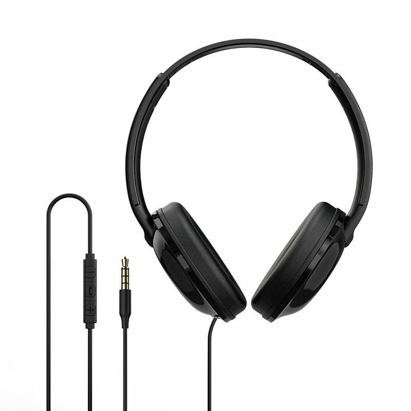 цена на Наушники Borofone BO1 EnjoyBass In-line Control Wired Headphone Black