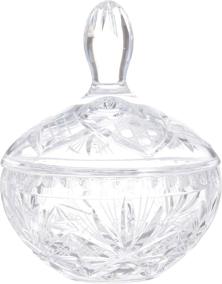 Конфетница Bohemia Crystal, 33522, с крышкой, на ножках, высота 22 см