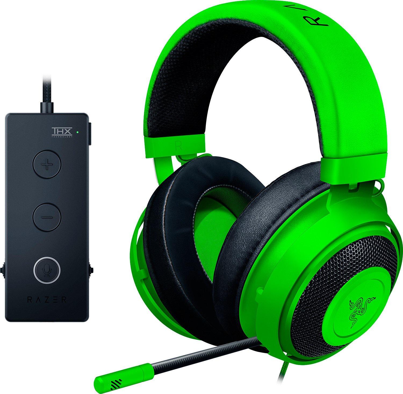 лучшая цена Гарнитура Razer Kraken Tournament Edition - Wired Gaming Headset with USB Audio Controller - Green -