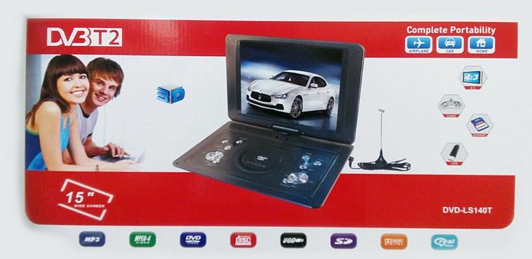 Портативный DVD и ЖК телевизор Eplutus DVD-LS140