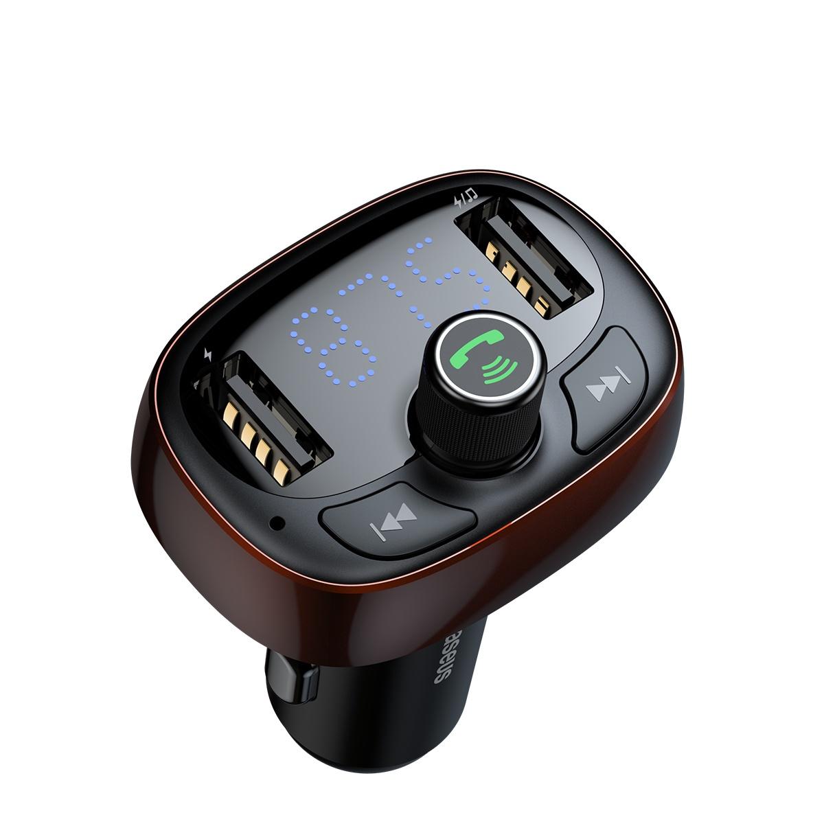 АЗУ Baseus T typed Bluetooth MP3 charger with car holder dark coffee Baseus