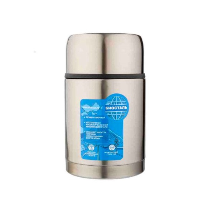 Термос BIOSTAL-АВТО с широким горлом, суповой, термочехлом, 1,2 л.