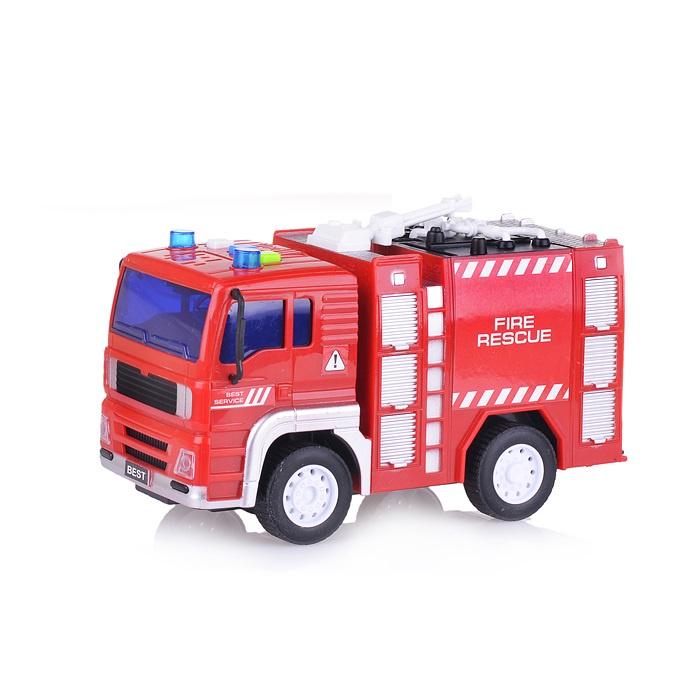 Машина WY551А Пожарная свет/звук в коробке