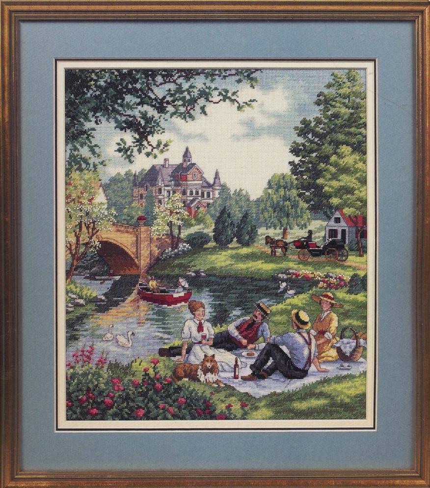 Набор для вышивания крестом Dimensions Пикник на лужайке, 30х36 см