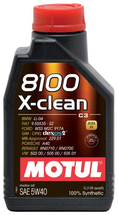 цена на Моторное масло Motul 8100 X-clean 5W-40 1 л