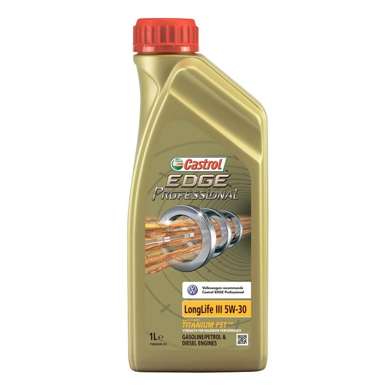 Моторное масло CASTROL EDGE Professional LongLife III 5W-30 1 л (VW) моторное дизельное масло castrol enduron plus 5w 30 20 л