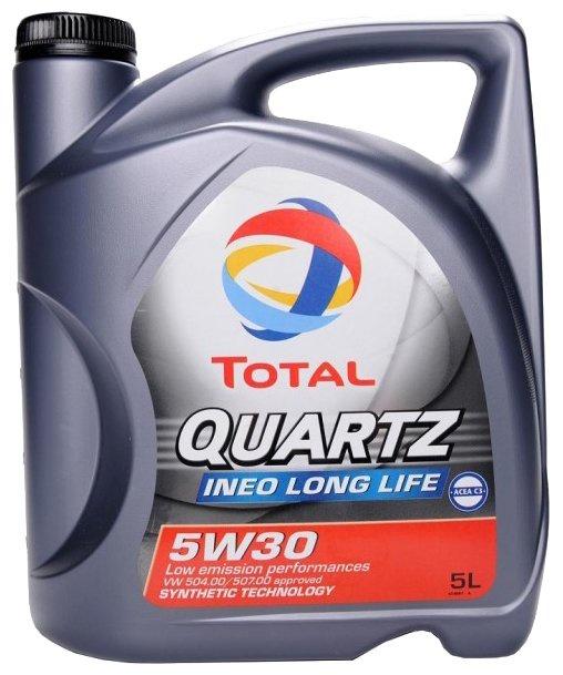 Моторное масло TOTAL QUARTZ INEO LONG LIFE 5W-30 5 л total quartz ineo ecs 5w 30 4 л