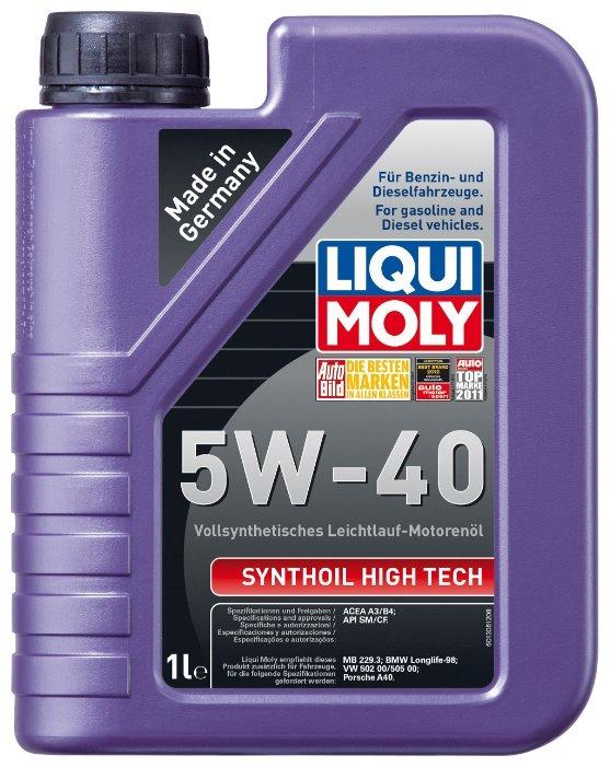 Моторное масло LIQUI MOLY Synthoil High Tech 5W-40 1 л liqui moly synthoil longtime plus 0w 30 5л