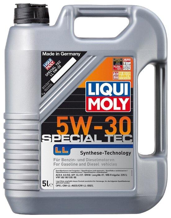 Моторное масло LIQUI MOLY Special Tec LL 5W-30 5 л цена