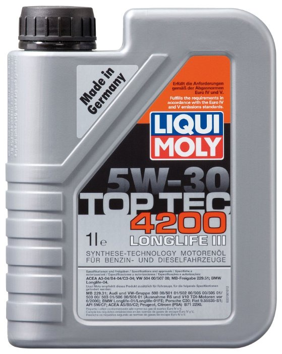 Моторное масло LIQUI MOLY Top Tec 4200 5W-30 1 л цена