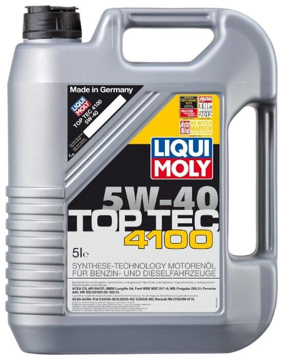 Моторное масло LIQUI MOLY Top Tec 4100 5W-40 5 л цена