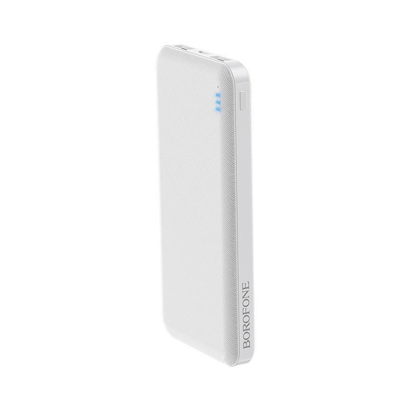Внешний аккумулятор Borofone BT20 Powerful mobile power bank 10000mAh White 5600mah power bank usb блок батарей 2 0 порты usb литий полимерный аккумулятор внешний аккумулятор для смартфонов синий черный