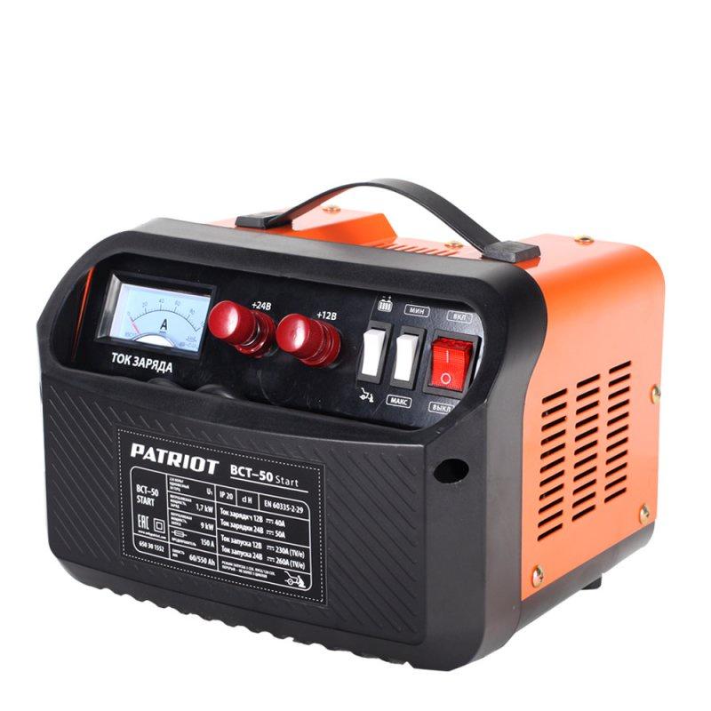 Устройство зарядное PATRIOT BCT- 50 Start пуско зарядное устройство patriot bct 350 start