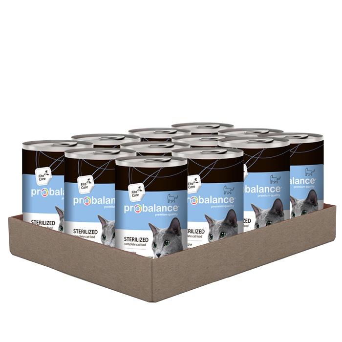 Консервированный корм Probalance Sterilized для стерилизованных кошек и кастрированных котов, 415 г/ 12 штук