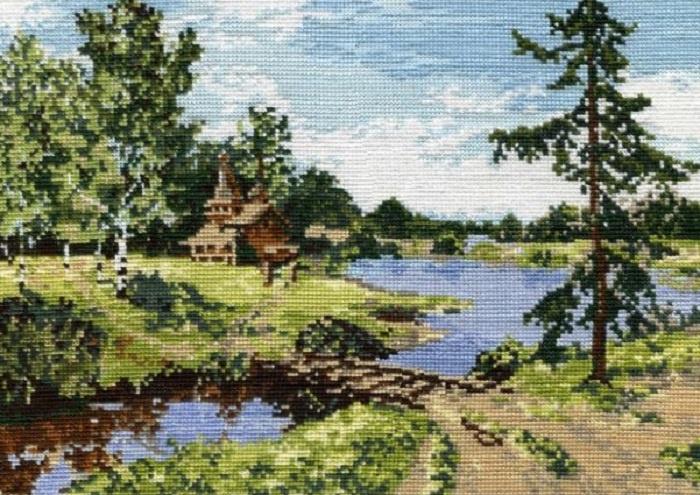 Набор для вышивания Овен Летний пейзаж. набор мулине 8шт 8м bestex