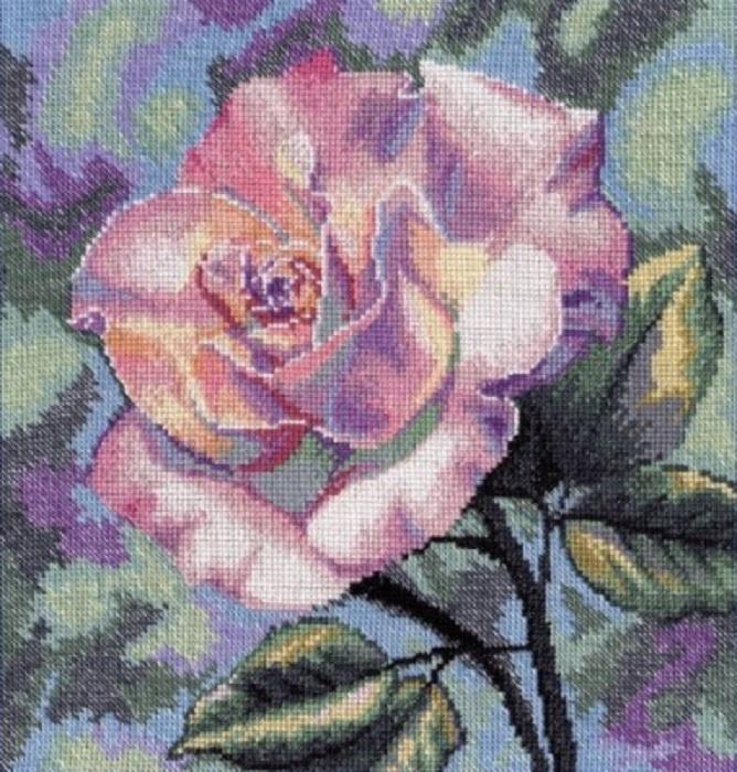 Набор для вышивания Овен Роза набор мулине 8шт 8м bestex