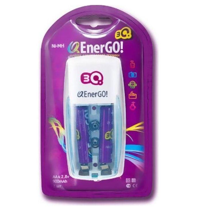 Зарядное устройство для аккумуляторов 3Q Q-EnerGO! C23-9 + 2 ААА (900 mAh)