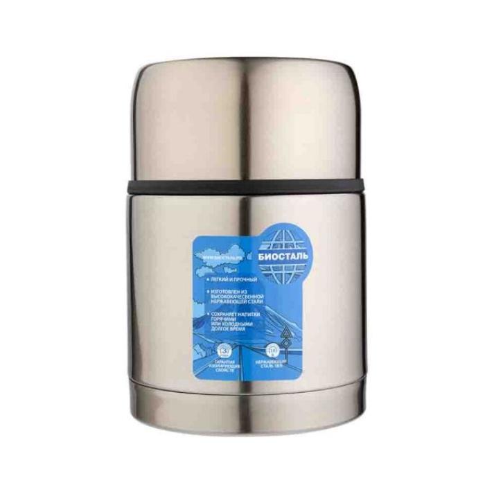 Термос BIOSTAL-АВТО с широким горлом,суповой, термочехлом, 0,6 л.