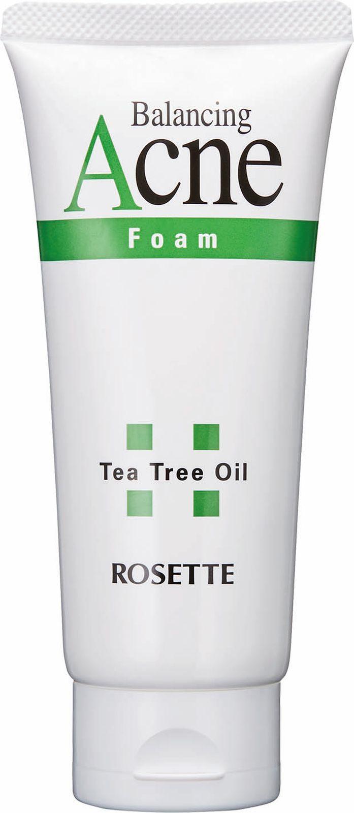 Пенка для умывания Rosette Acne Foam, для проблемной кожи с натуральным маслом чайного дерева, 120 г