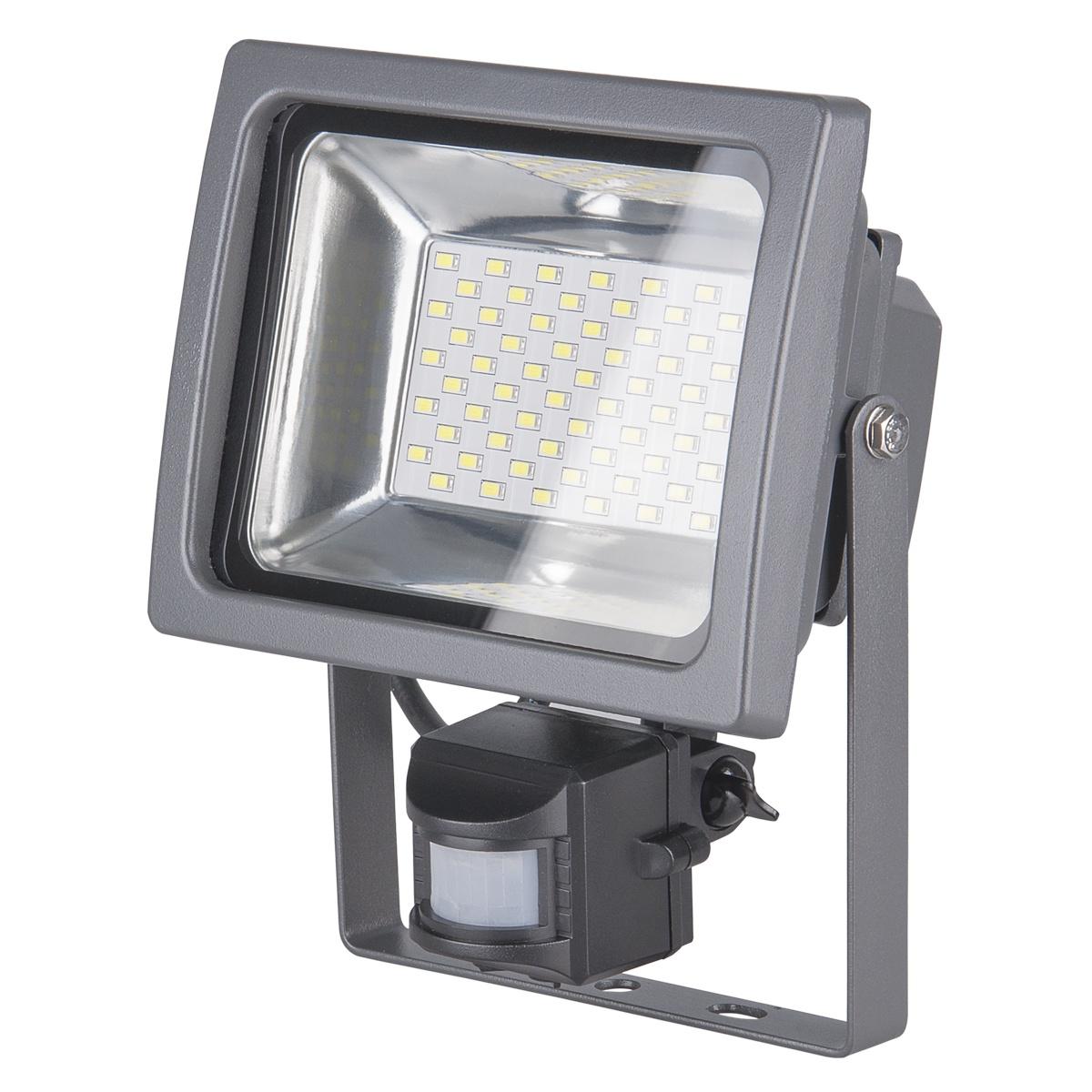Прожектор Elektrostandard светодиодный с датчиком движения 003 FL LED 30W, 6500, 30 Вт elektrostandart прожектор прожектор с датчиком 003 fl led 30w 6500k ip44