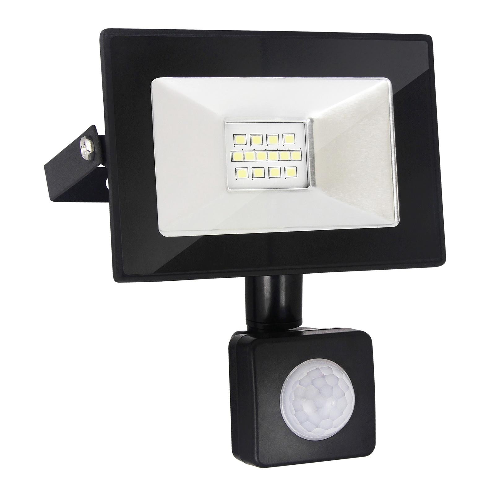 Прожектор Elektrostandard светодиодный с датчиком движения и освещенности 016 FL LED, 6500, 10 Вт elektrostandart прожектор прожектор с датчиком 003 fl led 30w 6500k ip44